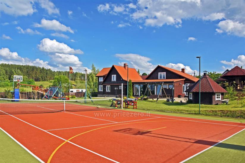 Teniso kortai, krepšinio ir tinklinio aikštelė sodyboje Saulėtekis Ignalinoje - 1