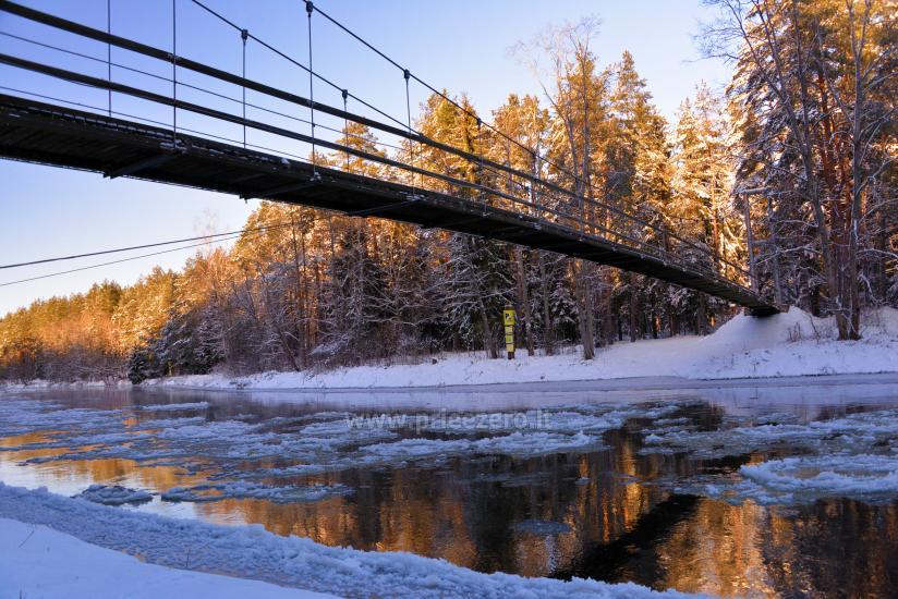 Mikierių (beždžionių) tiltas per Šventosios upę Anykščių rajone - 1