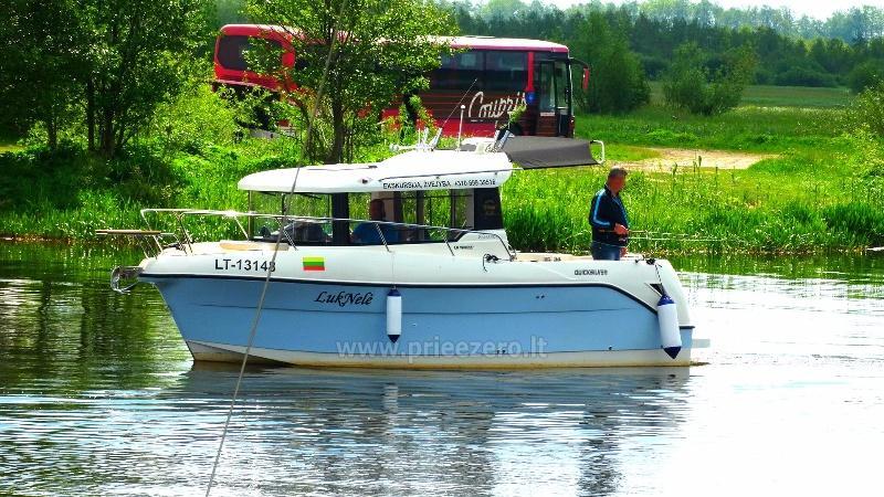"""Pažintinės - poilsinės išvykos 8 vietų kateriu """"Luknelė - 2"""