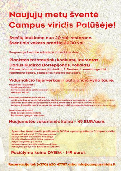 Naujųjų metų šventė Campus viridis Palūšėje - 1