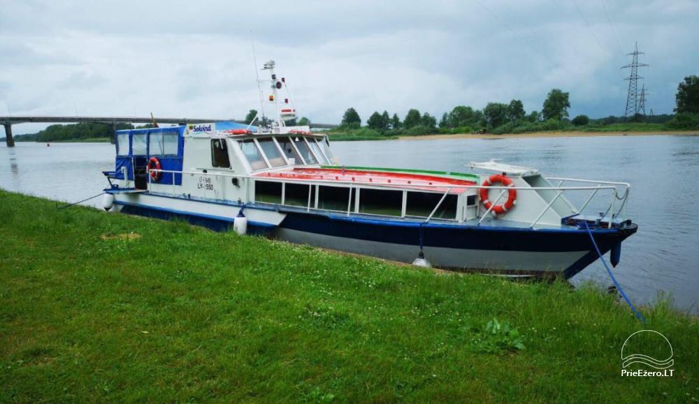 Laivų nuoma, ekskursijos laivais - Kintai, Dreverna, Rusnė, Šilutė, Mingė - 2