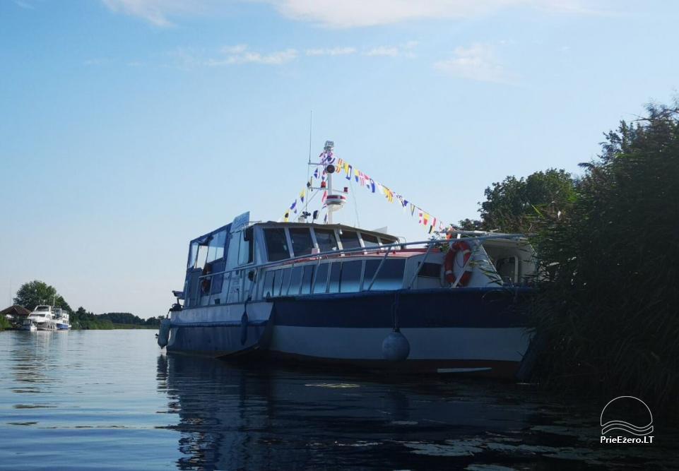 Laivų nuoma, ekskursijos laivais - Kintai, Dreverna, Rusnė, Šilutė, Mingė - 5