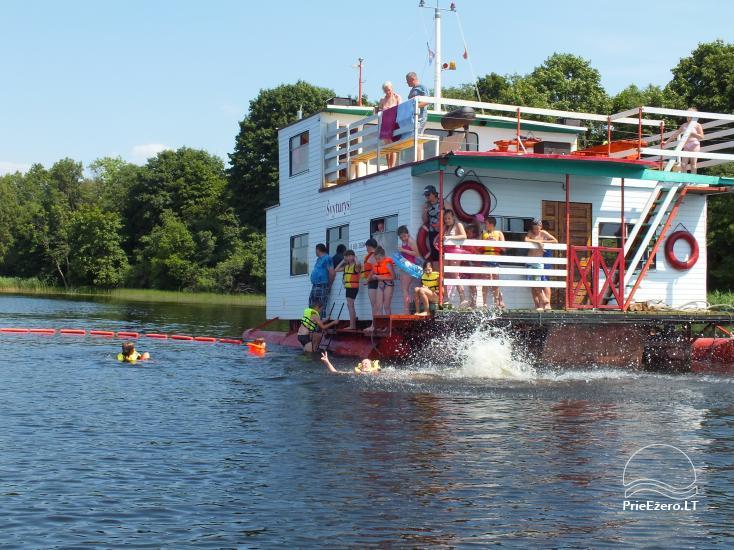 Pramogos Įlankos sodyboje: pirtys, pramoginis laivas, valtys, vandens dviračiai, paplūdimys... - 3