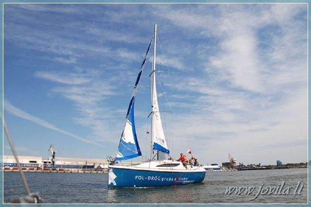 Plaukimas jachta Kuršių mariose, Nemuno deltoje, jūroje - kelionė jachta iš Nidos, Klaipėdos, Mingės - 8