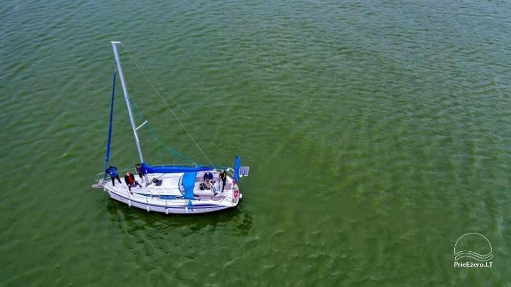 Plaukimas jachta Kuršių mariose, Nemuno deltoje, jūroje - kelionė jachta iš Nidos, Klaipėdos, Mingės - 2