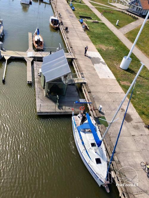 Plaukimas jachta Kuršių mariose, Nemuno deltoje, jūroje - kelionė jachta iš Nidos, Klaipėdos, Mingės - 14