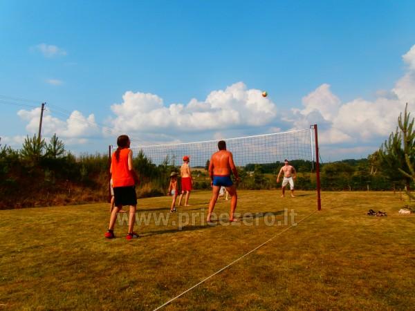 Pirtis, futbolo aikštelė, tinklinis, žvejyba sodyboje Kliukai Molėtų rajone - 27