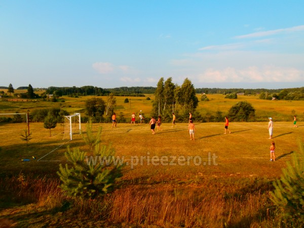 Pirtis, futbolo aikštelė, tinklinis, žvejyba sodyboje Kliukai Molėtų rajone - 28