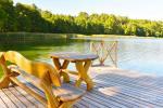 Sodybos aplinka: teritorija, ežeras, lieptas, tinklinio aikštelė, stalo tenisas - 11
