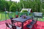 13 vietų namas: svetainė-valgomasis, virtuvė, 5 miegamieji, terasa, balkonai, dušas, WC - 10