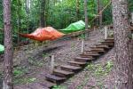 Indėniška palapinė Tipi (vigvamas) ir medžiuose kabančios palapinės - 5