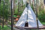 Indėniška palapinė Tipi (vigvamas) ir medžiuose kabančios palapinės - 2